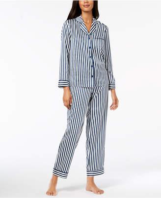 Alfani Satin Notch Collar Pajama Set, Created for Macy's
