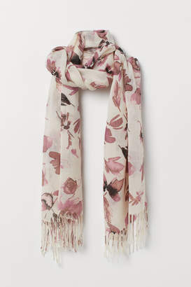 H&M Patterned Scarf - Beige