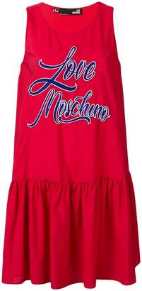 Love Moschino embroidered logo dress