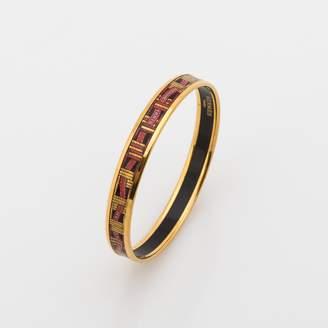 Hermes Narrow Printed Enamel Bracelet (Pre Owned)