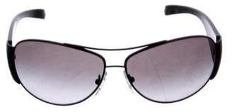 Prada Metal Aviator Sunglasses