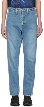 Doublet Blue Selvedge Line Regular Low-Rise Jeans