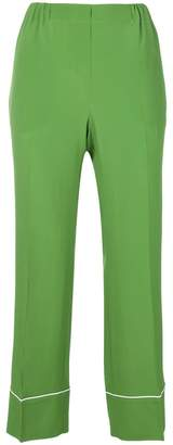 No.21 cropped pyjama style trousers