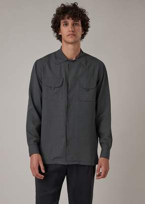 Giorgio Armani Oversized Shirt In Corrosion-Printed Fabric