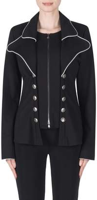 Joseph Ribkoff Zip-Front Military-Look Jacket