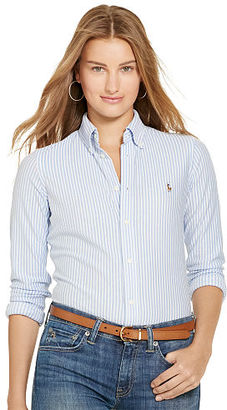 Polo Ralph Lauren Striped Knit Oxford Shirt $98.50 thestylecure.com