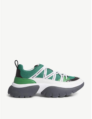 Maje XXL leather sneakers