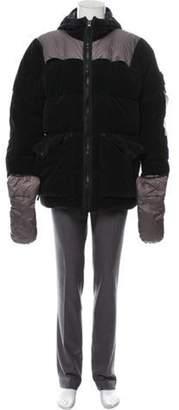 Stone Island Velvet Hooded Down Jacket w/ Gloves w/ Tags black Velvet Hooded Down Jacket w/ Gloves w/ Tags