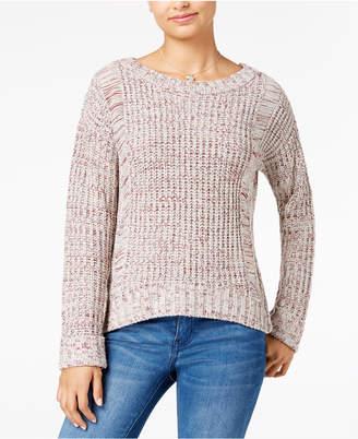 One Hart Juniors' Cuffed-Sleeve Sweater