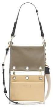 Chloé Roy Double Bi-Color Suede Pouch Bag