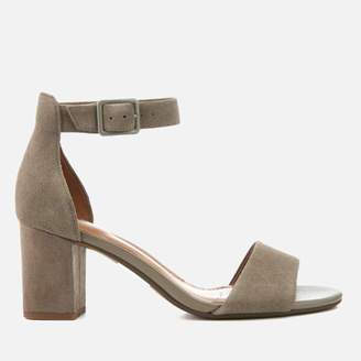 Clarks Women's Deva Mae Suede Blocked Heeled Sandals