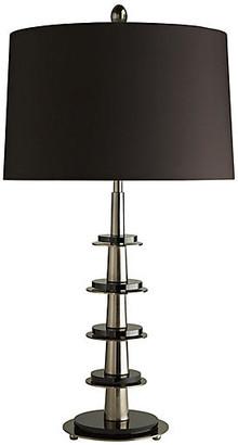 Pyre Table Lamp - Antiqued Silver/Black - Celerie Kemble