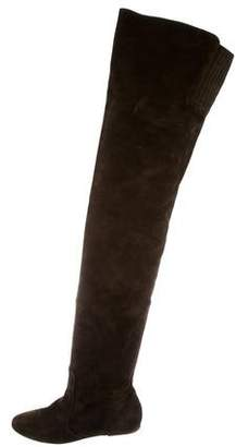 Isabel Marant Round-Toe Suede Over-The-Knee Boots
