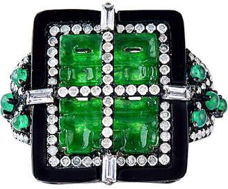 Artisan Jewelry Artisan 18K & Silver 4.30 Ct. Tw. Diamond & Gemstone Ring