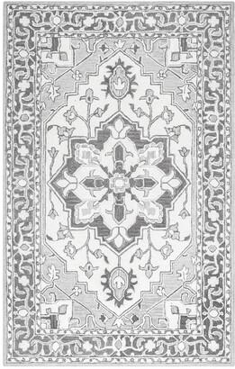 nuLoom Fleur-De-Lis Rosette Hand-Tufted Rug