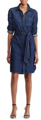 Lauren Ralph Lauren Spread-Collar Denim Shirtdress