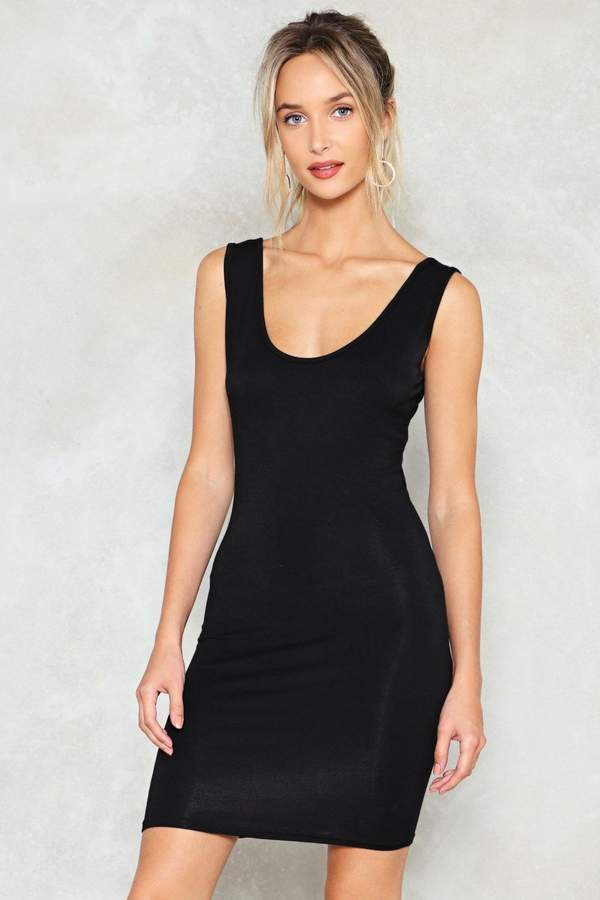 nastygal Out of the Scoop Bodycon Dress