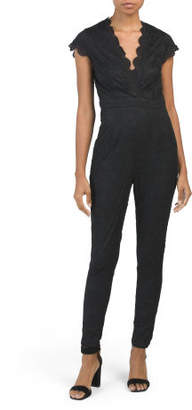 Juniors Lace Jumpsuit