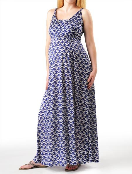 Apeainthepod Sleeveless Empire Waist Maternity Maxi Dress