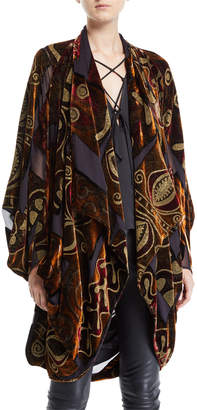 Urban Zen Oversized Velvet Devore Cocoon Cardigan