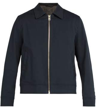 Rag & Bone Garage Cotton Blend Jacket - Mens - Navy