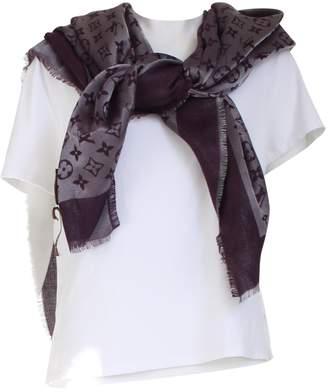 Louis Vuitton Purple Wool Scarves