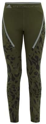 adidas by Stella McCartney Run Leopard Print Leggings - Womens - Khaki