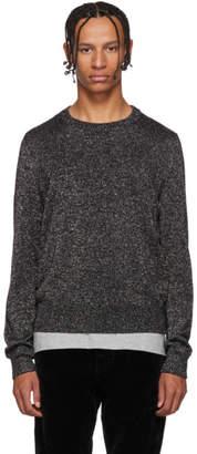 Saint Laurent Silver Lurex Sweater