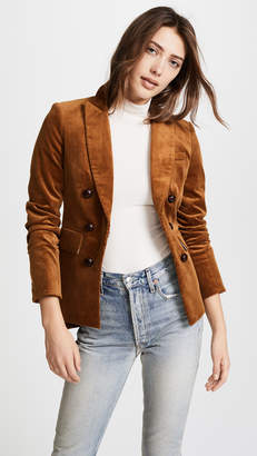 Veronica Beard Cliff Cutaway Jacket with Elbow Patches