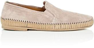 Officine Creative Men's Twisted-Detail Suede Venetian Loafers