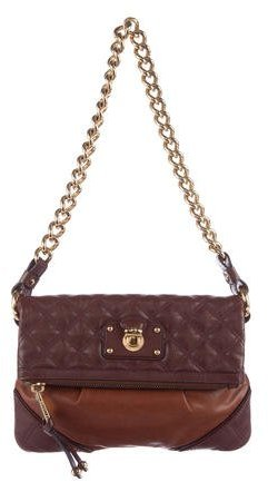 Marc Jacobs Marc Jacobs Quilted Leather Fold-Over Bag