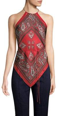 Diane von Furstenberg High Neck Scarf Blouse