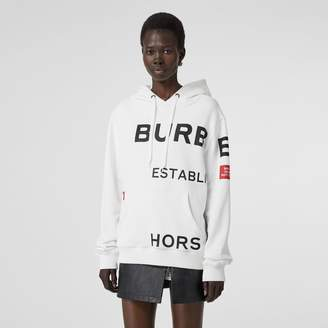 Burberry Horseferry Print Cotton Oversized Hoodie