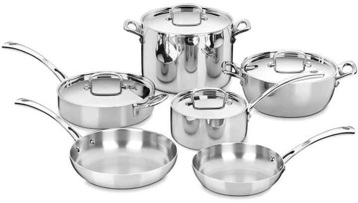 Cuisinart 10-in. Tri-Ply Stainless Steel French Classic Cookware Set