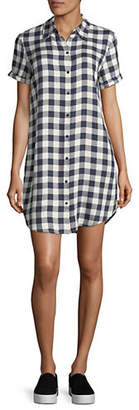 BB Dakota Gingham Short-Sleeve Shirtdress
