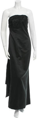 Vera Wang One-Shoulder Evening Gown $140 thestylecure.com