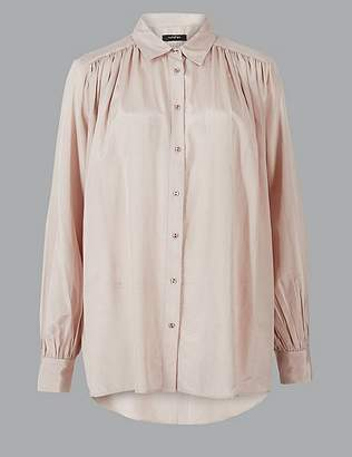 Marks and Spencer Cotton Blend Long Sleeve Shirt