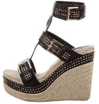 Alexander McQueen Studded Espadrille Wedges w/ Tags