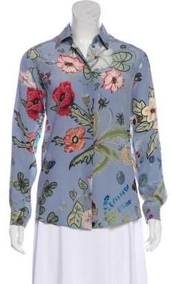 Gucci Silk Flora Top w/ Tags