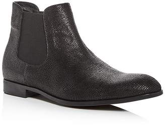 Giorgio Armani Men's Snake Embossed Leather Chelsea Boots