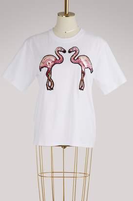Victoria Beckham Victoria Pink flamingo T-shirt