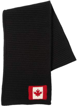 DSQUARED2 Wool Scarf W/ Canadian Flag