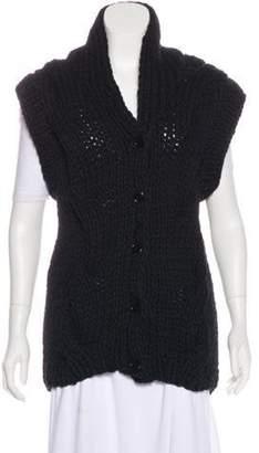 Maison Margiela Sleeveless Knit Cardigan Black Sleeveless Knit Cardigan
