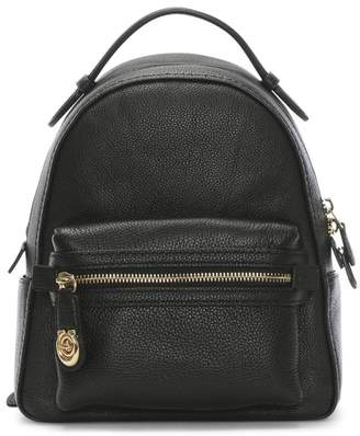 Coach Campus 23 Pebbled Black Leather Backpack