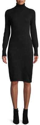 Neiman Marcus Cashmere Turtleneck Sweater Dress, Plus Size