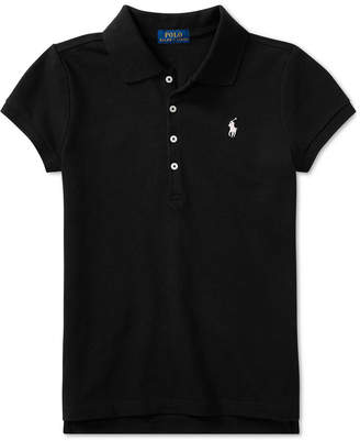Polo Ralph Lauren Ralph Lauren Big Girls Stretch Mesh Polo Shirt