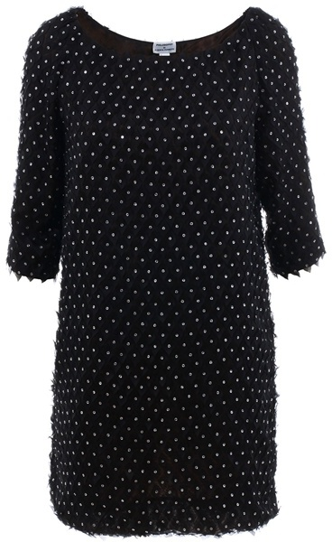 PHILOSOPHY DI ALBERTA FERRETTI - Black embellished shift dress