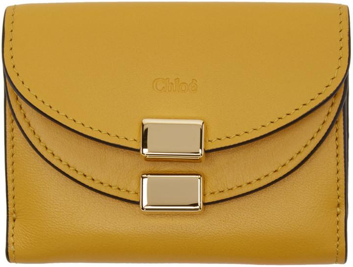 Chloé Chloé Yellow Square Georgia Wallet