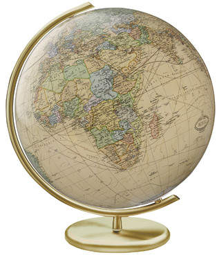Columbus Globe Weimar Illuminated Glass Desktop Globe