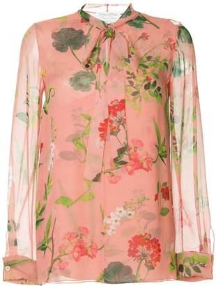 Oscar de la Renta botanical print blouse